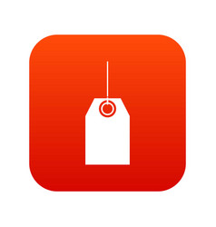 Black tag icon digital red vector