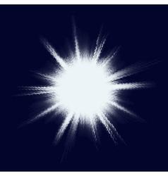 Blue halftone blast EPS 10 vector image vector image