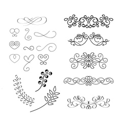 Calligraphic element vector