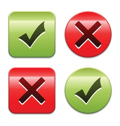 check mark buttons vector image vector image