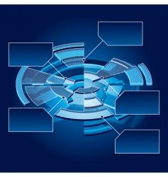 circle chart vector image vector image