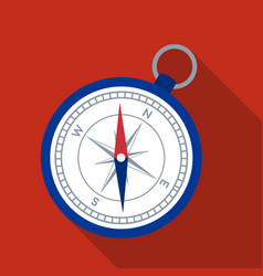 Compass icon in flat style isolated on white vector