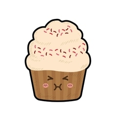 Cupcake kawaii dessert cute sweet icon vector