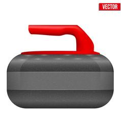 Curling stone equipment vector