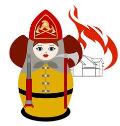 Firefighter vector