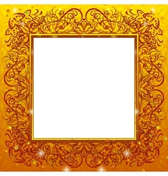 Golden holiday frame vector image