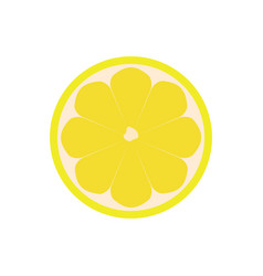 Half of lemon icon isolated object lemon logo vector