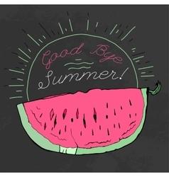 Hand drawn watermelon 01 a vector