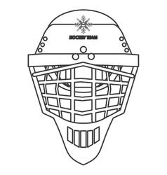 hockey helmet icon vector image vector image