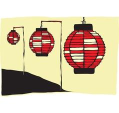 Japanese Lanterns vector image vector image