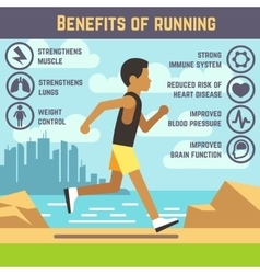 Jogging man running guy fitness exercise vector image