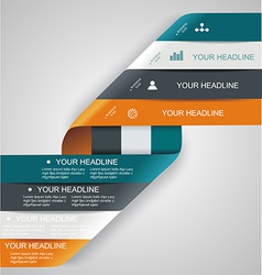 Modern spiral infographics options banner vector image