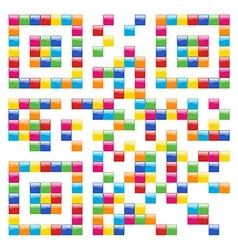 Multicolored social media QR vector image