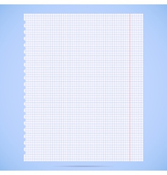 notebook paper sheet vector image
