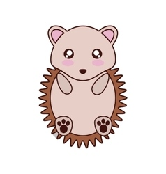 Porcupine kawaii cute animal icon vector