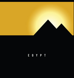 Pyramid egypt famous ancient history vector