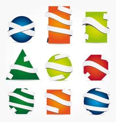 ribbon labels vector image