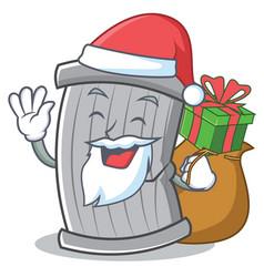 santa trash character cartoon style vector image vector image