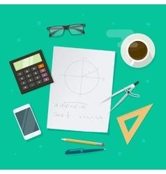 School lesson study concept education geometry vector