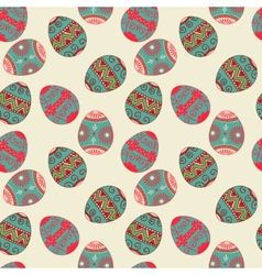 seamless Easter eggs pattern Elegant vector image