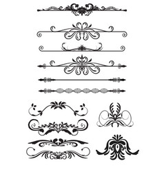 set vintage decorations elements vector image vector image