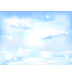 snowy winter landscape background - horizontal vector image vector image