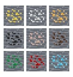 Texture for platformers pixel art stone vector image vector image