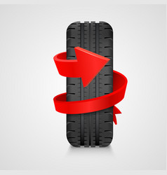 Tire with arrow health care concept vector