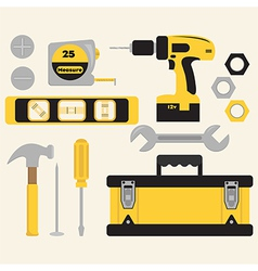 Toolbox and Tools Set vector image