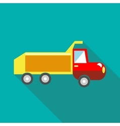 Toy truck icon in flat style vector image