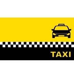 Yellow business card with taxi car vector