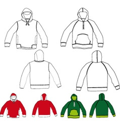 Set of hoodies vector