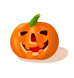 Cartoon halloween creepy pumpkin vector