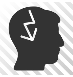 Brain electric strike icon vector