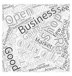 Opening a boutique word cloud concept vector