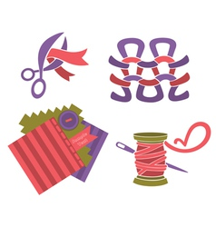 Hand made and craft collection vector