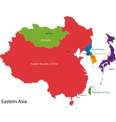 Eastern asia map vector