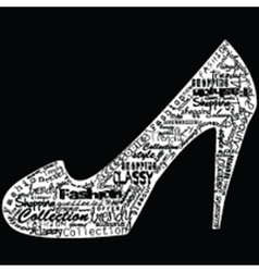 Shoe with fashion messages vector image