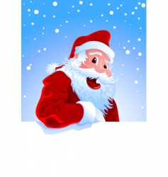 happy Santa vector image