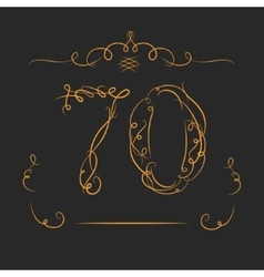 Anniversary 70th signs vector