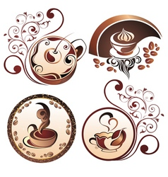coffee elements for design vector image