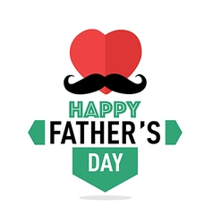 Happy fathers day badges retro vector