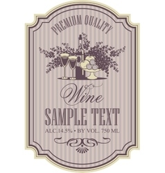 wine retro label vector image