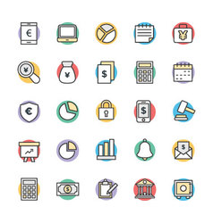 Finance cool icons 1 vector