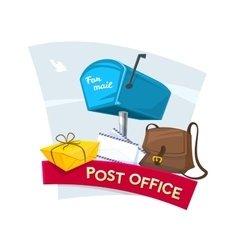 Post office concept design vector