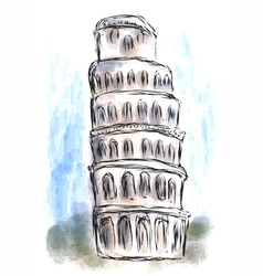 Leaning tower of pisa vector