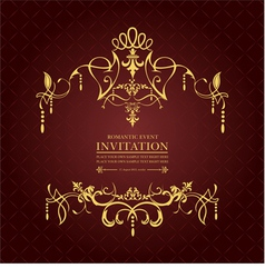 al 0809 invitation 02 vector image