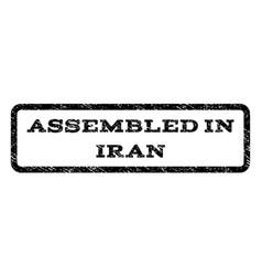 Assembled in iran watermark stamp vector