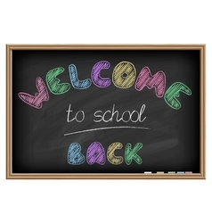 Back to school poster Chalkboard effect vector image
