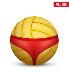 Beach volleyball symbol vector